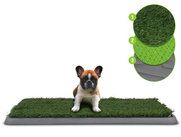 Многослойный зеленый туалет-лоток Potty Patch для щенков, собак мелких пород и кошек